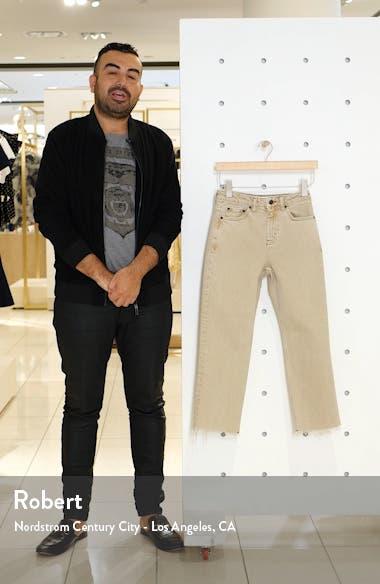 High Waist Straight Leg Crop Jeans, sales video thumbnail