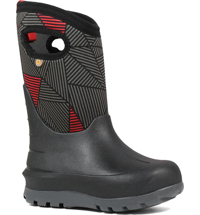 BOGS Neo Classic Big Geo Insulated Waterproof Boot, Main, color, BLACK MULTI