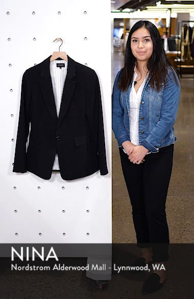 One-Button Stretch Crepe Blazer, sales video thumbnail