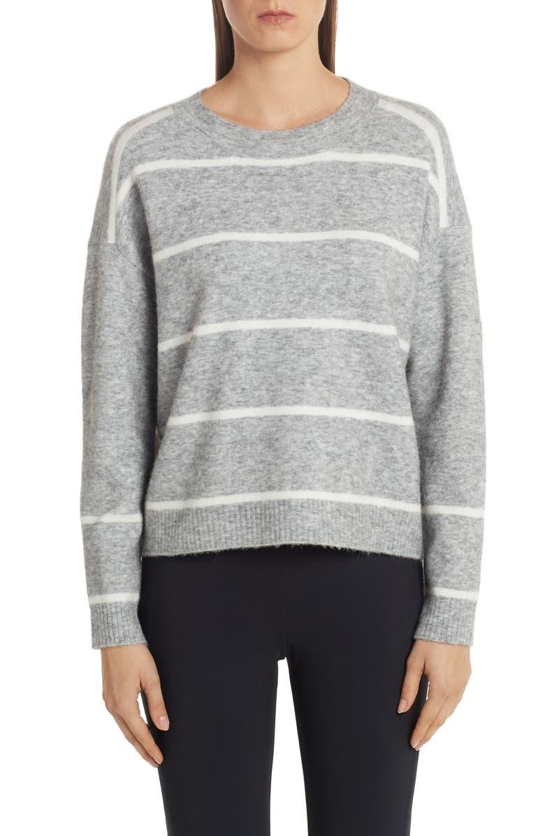 MONCLER Stripe Sweater, Main, color, GREY