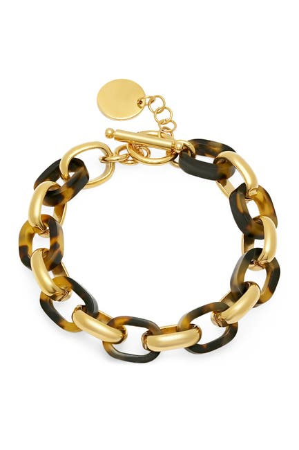 Image of HMY Jewelry Simulated Tortoise Shell Link Bracelet