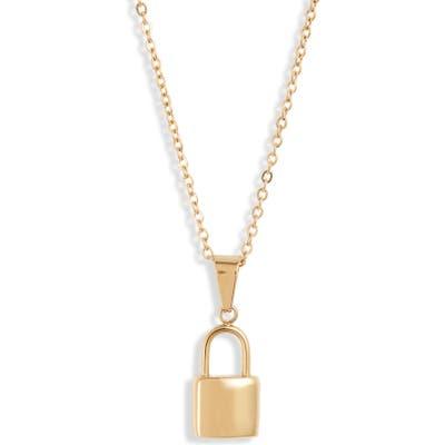 Ellie Vail Uma Lock Pendant Necklace