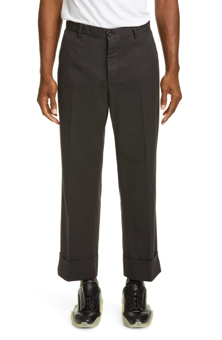 MAISON MARGIELA Garment Dye Cuff Pants, Main, color, ANTHRACITE