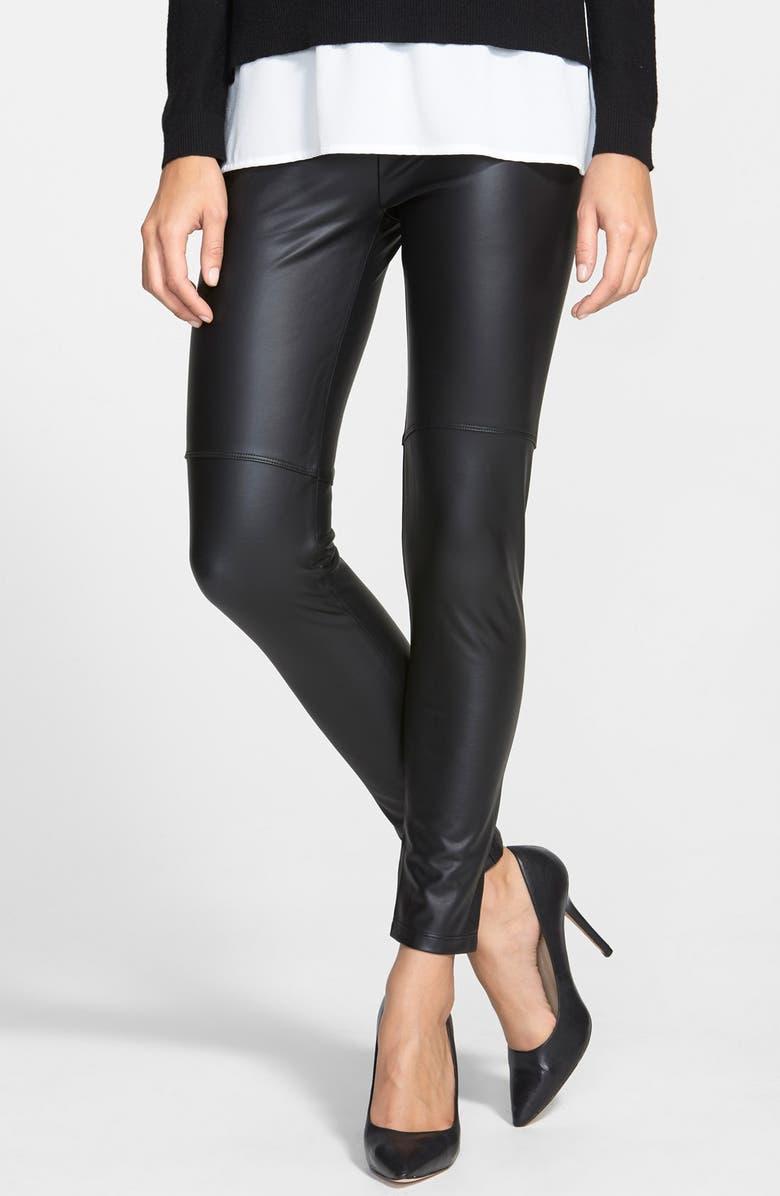 LYSSÉ Faux Leather Leggings, Main, color, 002