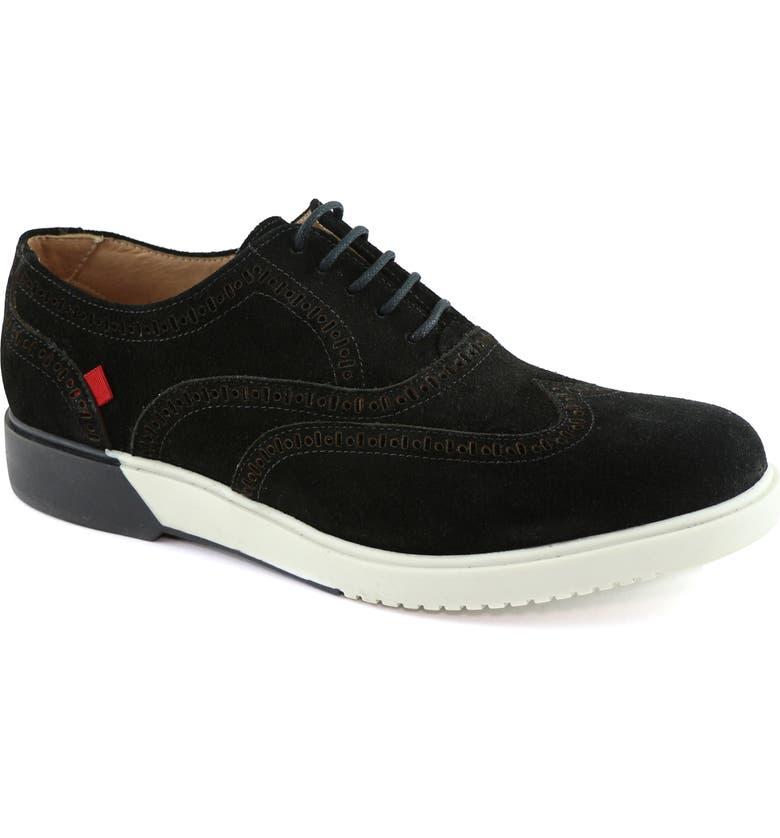 MARC JOSEPH NEW YORK 5th Ave Wingtip Sneaker, Main, color, BLACK SUEDE