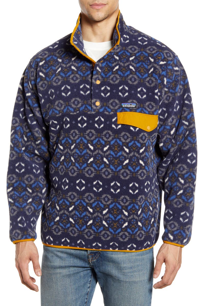 PATAGONIA Synchilla<sup>®</sup> Snap-T<sup>®</sup> Pullover, Main, color, TUNDRA CLUSTER NEW NAVY