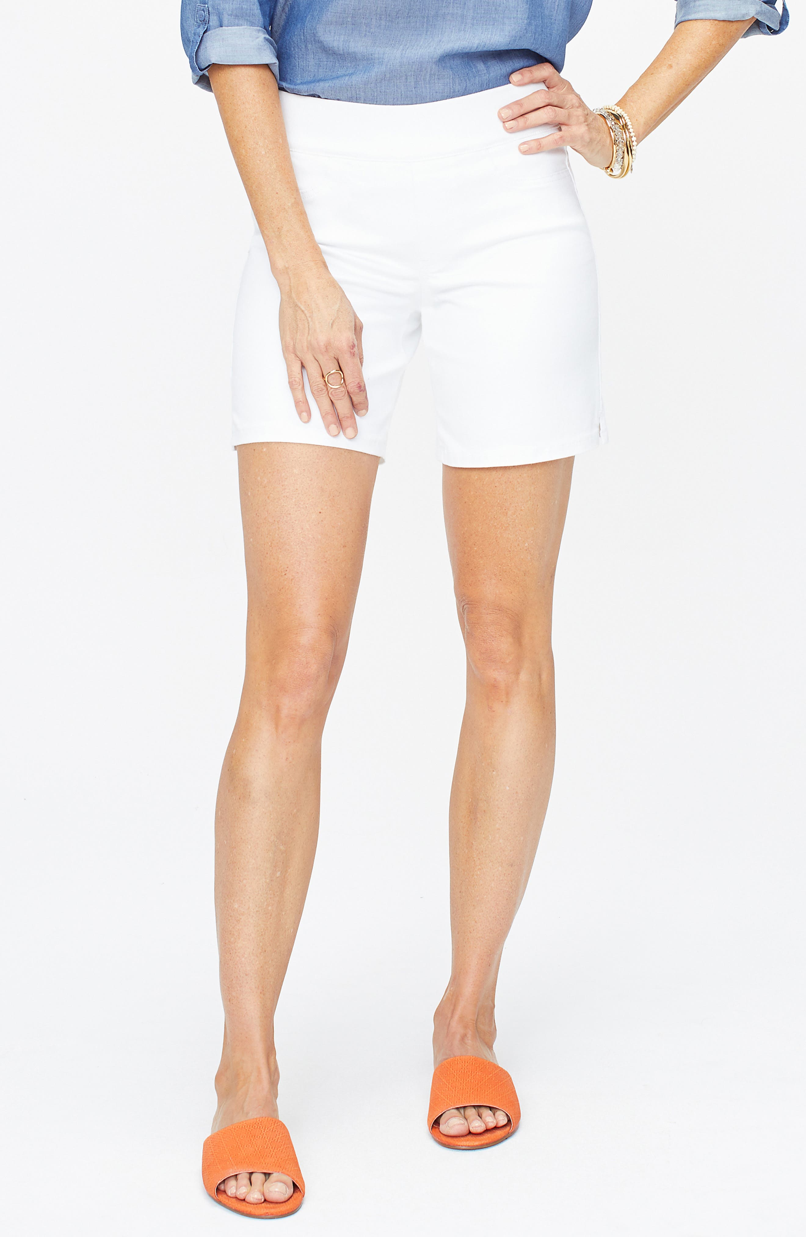 NYDJ Pull-On Denim Shorts
