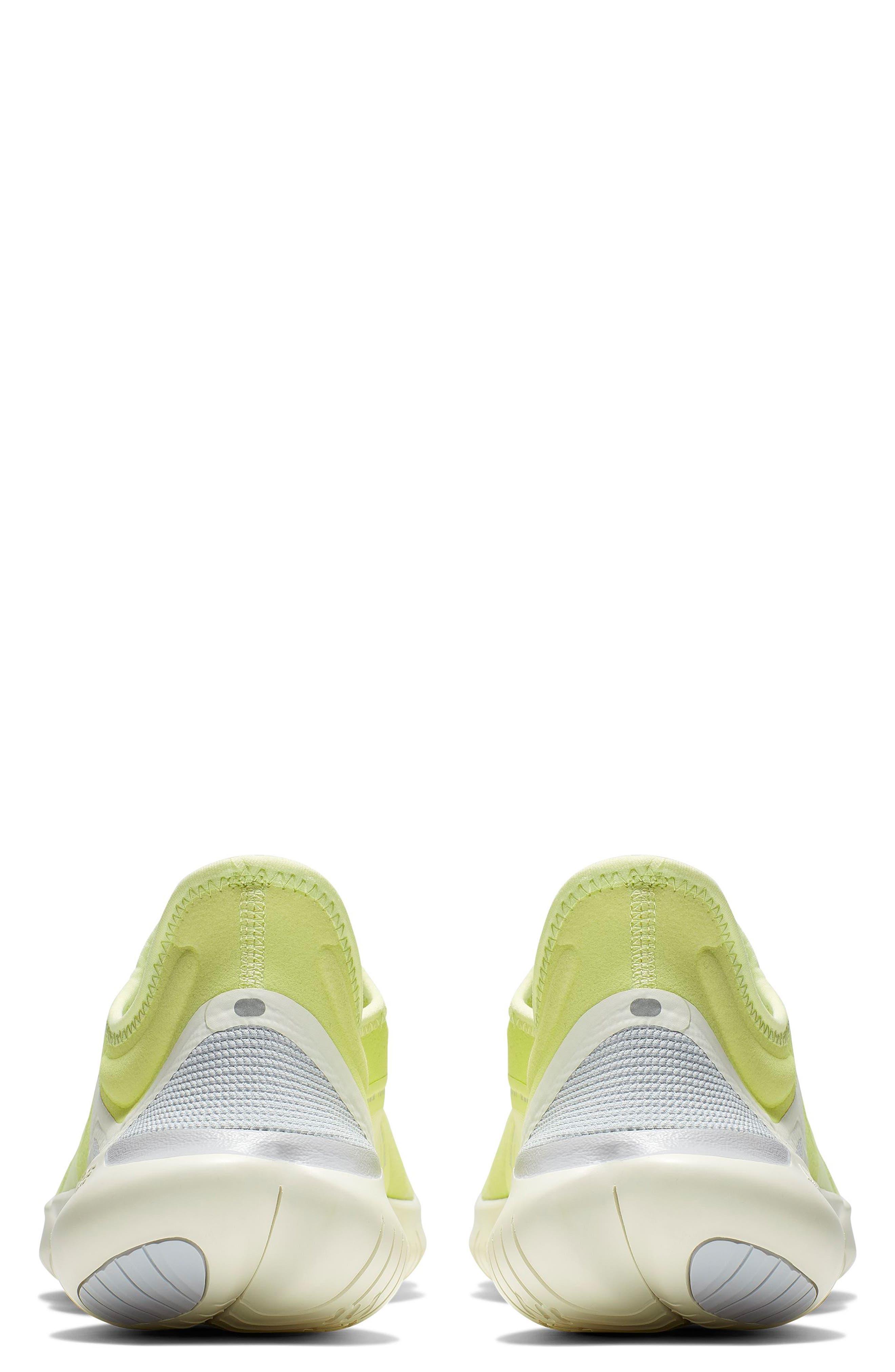 ,                             Free RN 5.0 Running Shoe,                             Alternate thumbnail 2, color,                             LUMINOUS GREEN/ BLACK/ SAIL