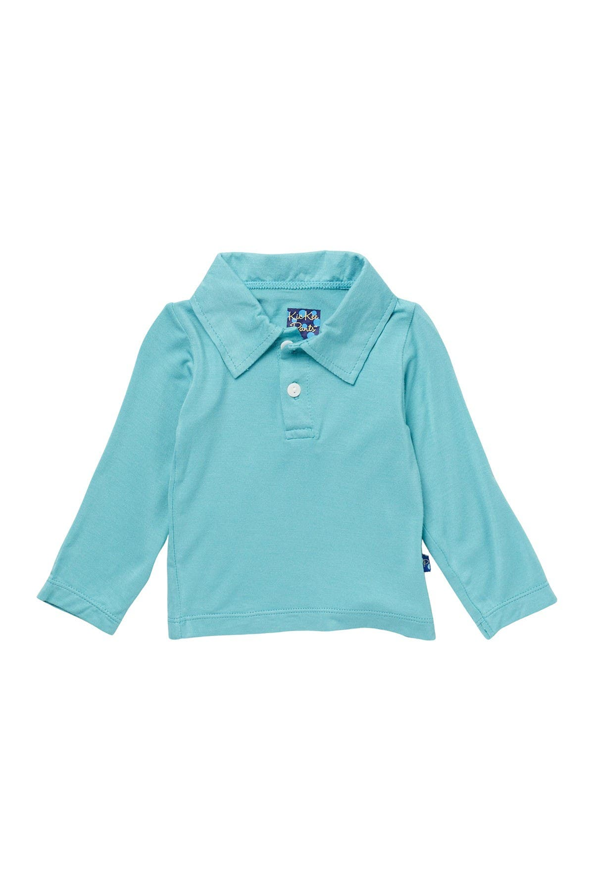 Image of KicKee Pants Solid Long Sleeve Polo Shirt
