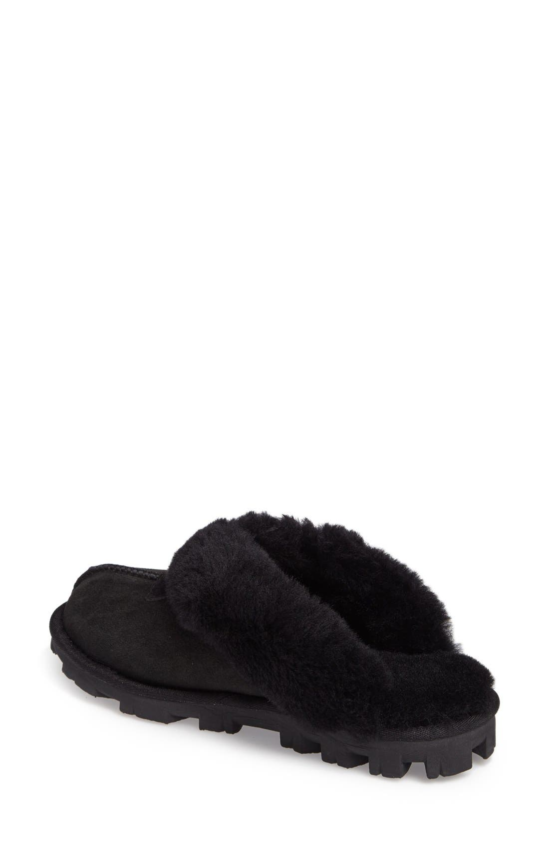 ,                             Genuine Shearling Slipper,                             Alternate thumbnail 157, color,                             BLK