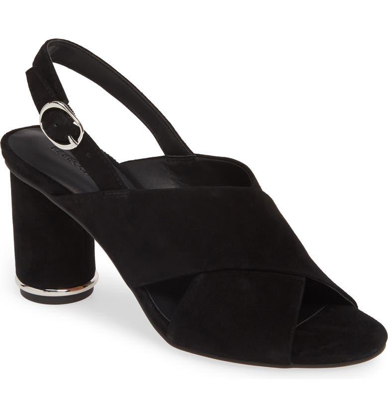 REBECCA MINKOFF Aaiden Slingback Sandal, Main, color, BLACK