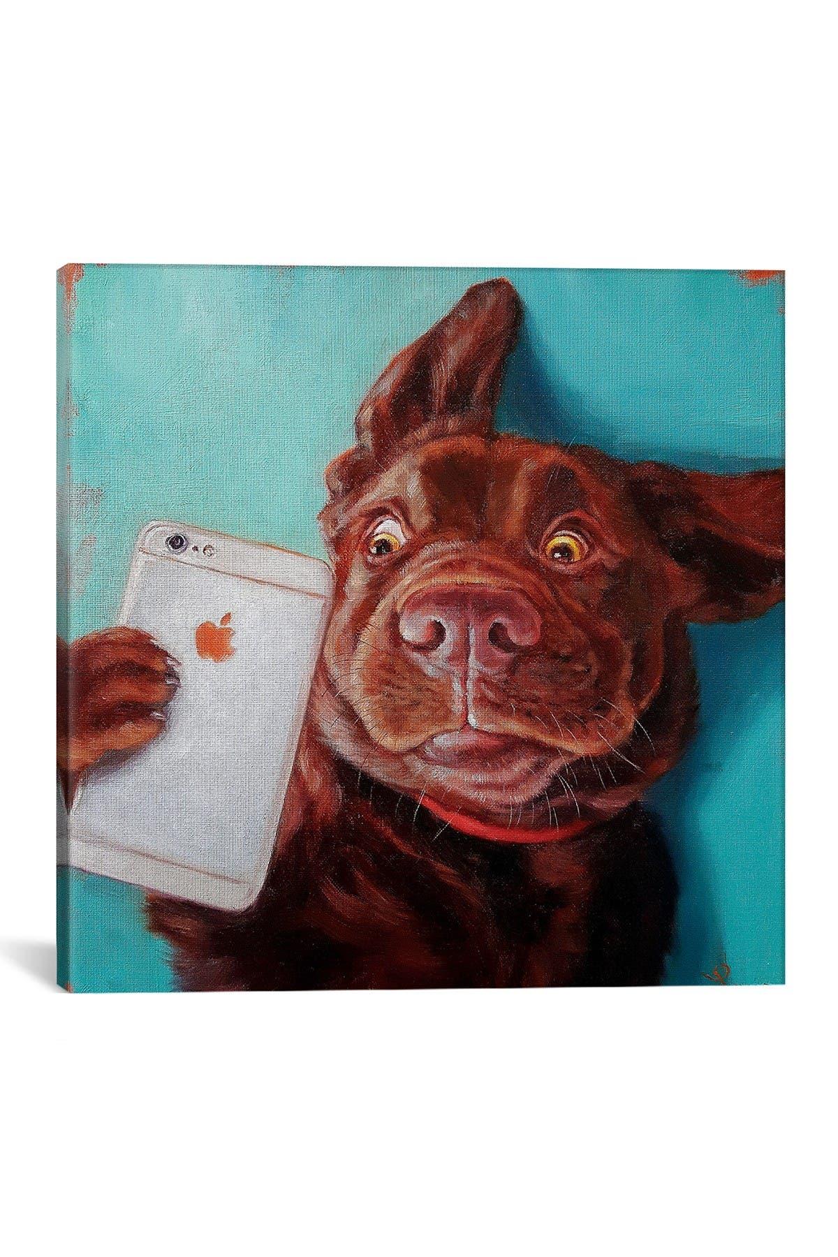 Image of iCanvas Dog Selfie by Lucia Heffernan