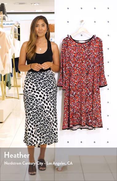 Woodland Leaf Flounce Shift Dress, sales video thumbnail