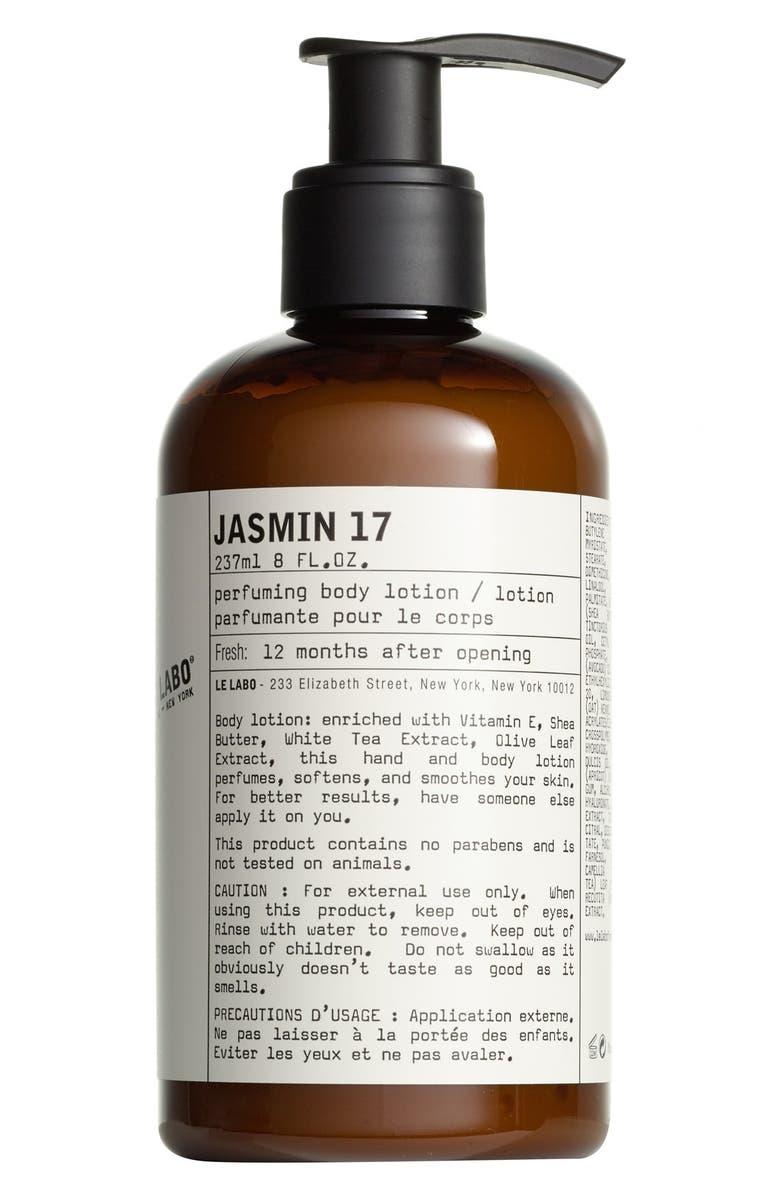 LE LABO 'Jasmin 17' Hand & Body Lotion, Main, color, NO COLOR