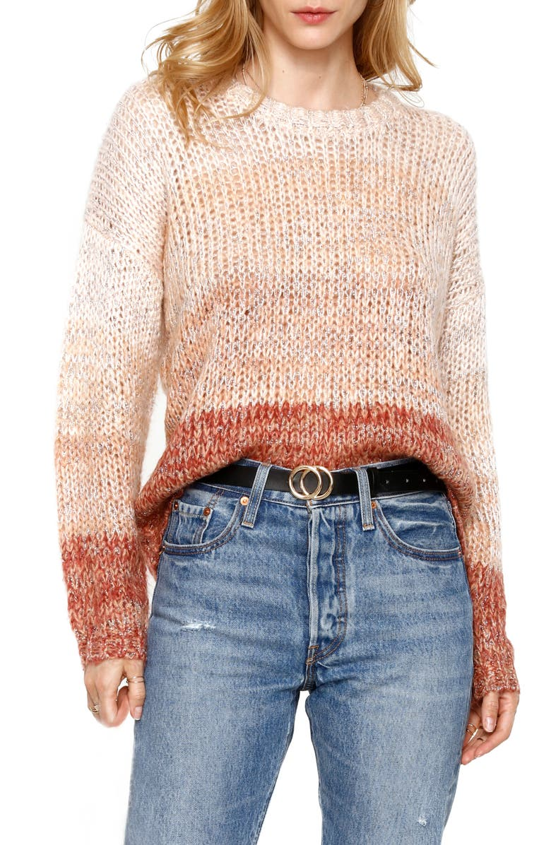 HEARTLOOM Halen Metallic Sweater, Main, color, BLUSH