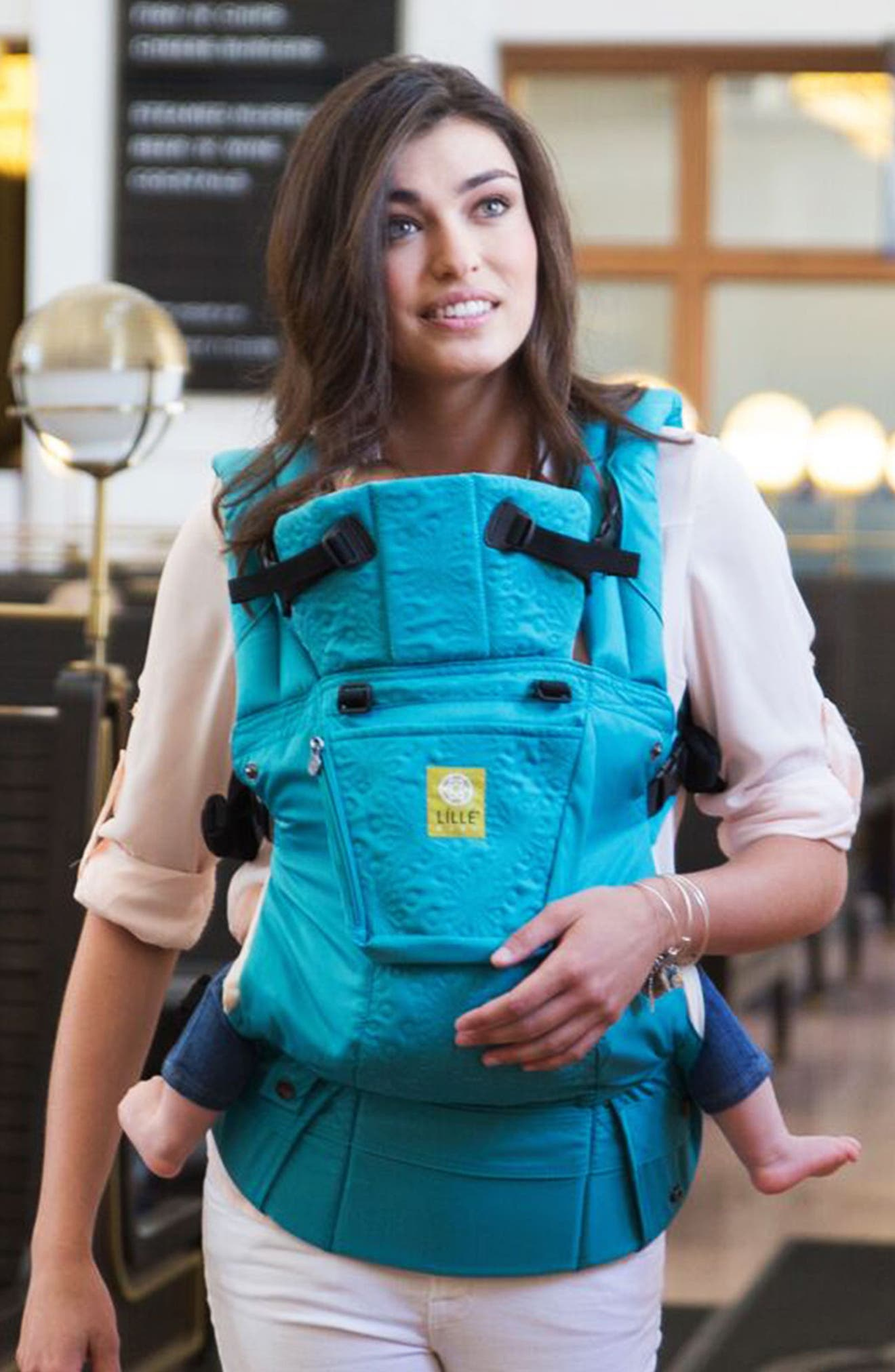 Infant Lilliebaby Complete Embossed Baby Carrier Size One Size  Bluegreen