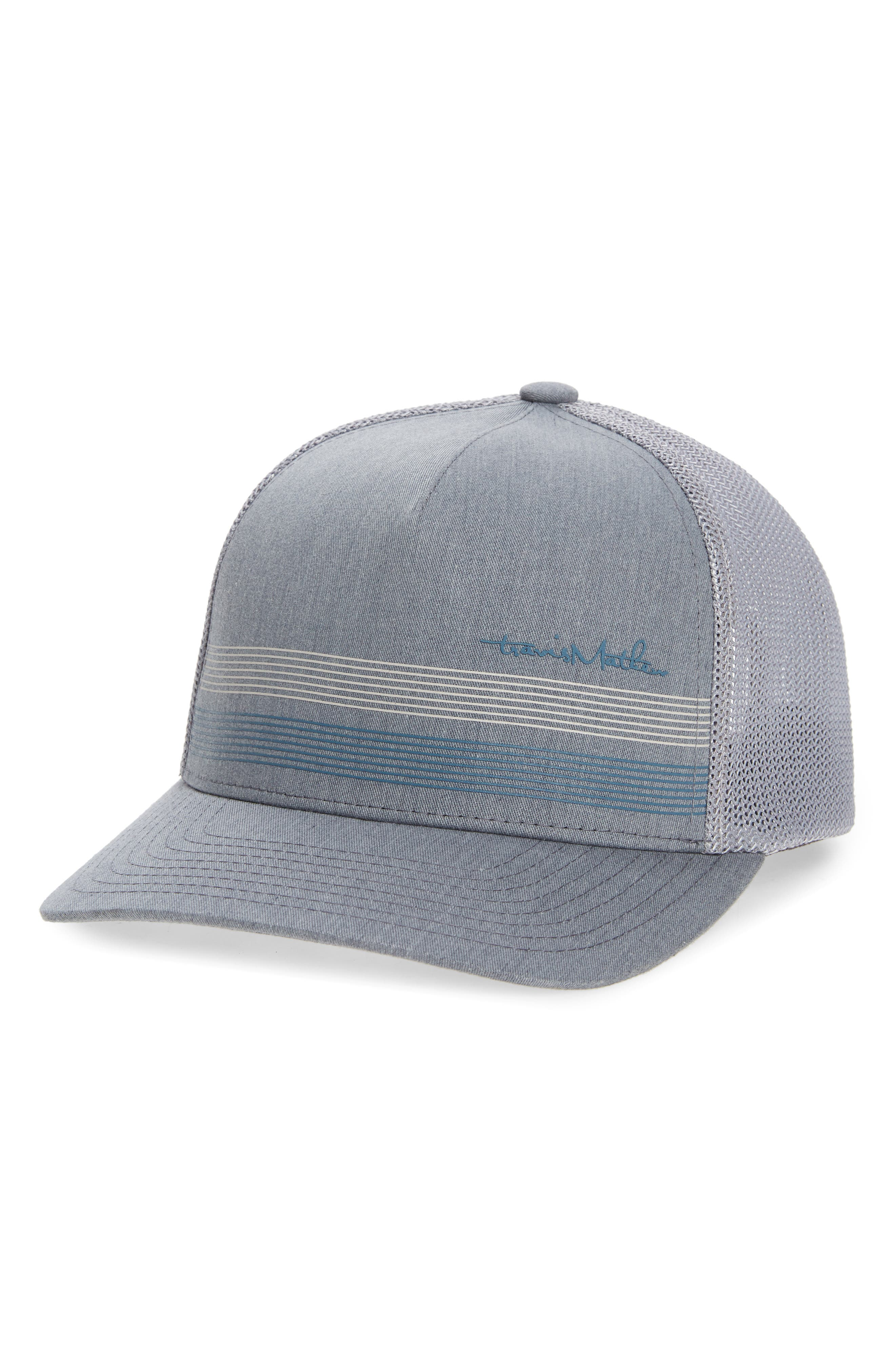 Kick back in style in this hat featuring a mesh-paneled back and striped front design. Style Name: Travismatthew Long Way Home Trucker Hat. Style Number: 6121088. Available in stores.