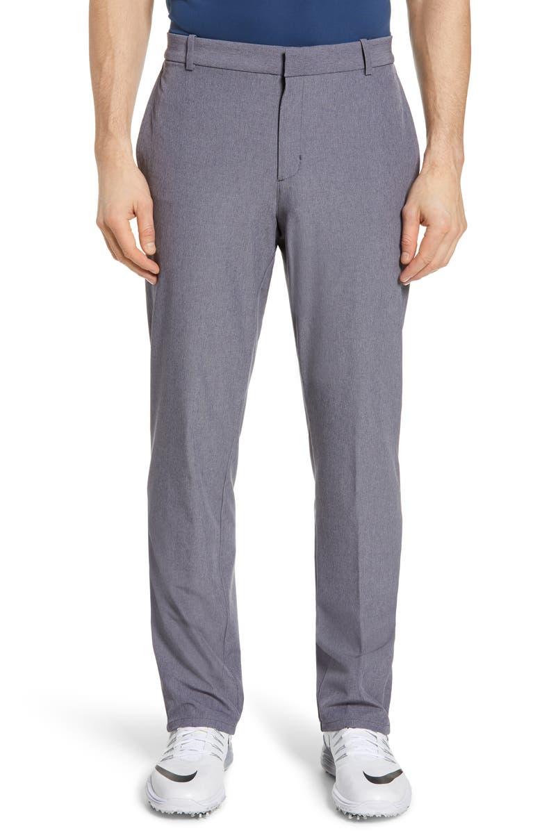 NIKE Flex Slim Fit Hybrid Golf Pants, Main, color, GRIDIRON/ PURE/ GRIDIRON
