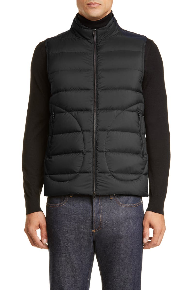 HERNO Waterproof Down Puffer Vest, Main, color, BLACK
