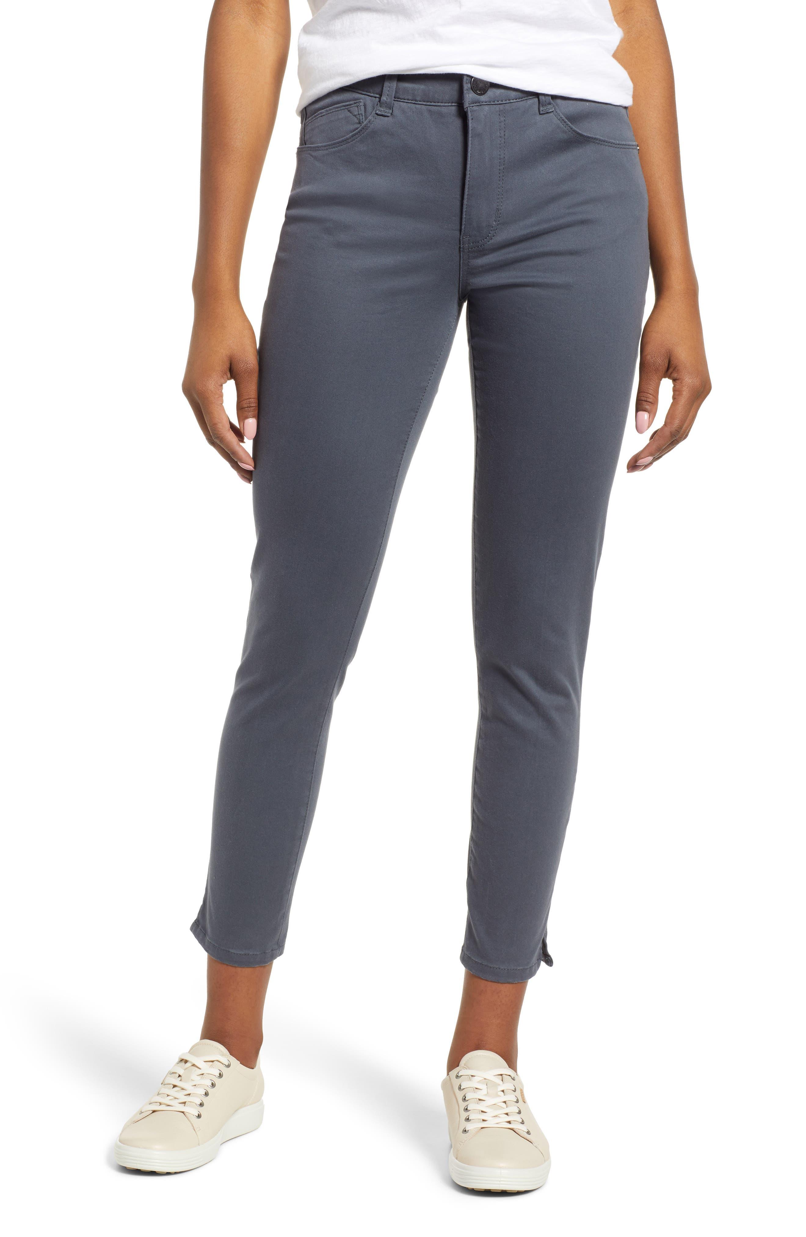 Petite Women's Wit & Wisdom Ab-Solution High Waist Ankle Skinny Pants,  0P - Grey (Regular & Petite) (Nordstrom Exclusive)