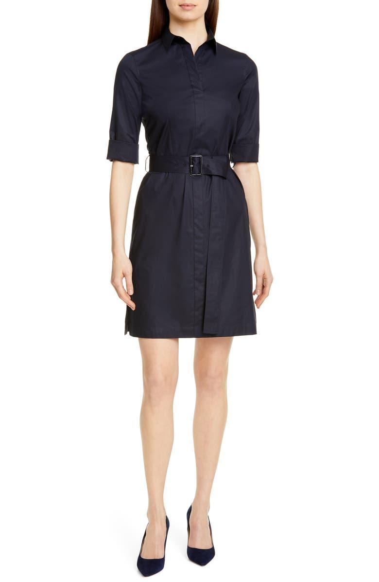 d732f2230 Daliri Belted Shirtdress, Main, color, DARK NAVY