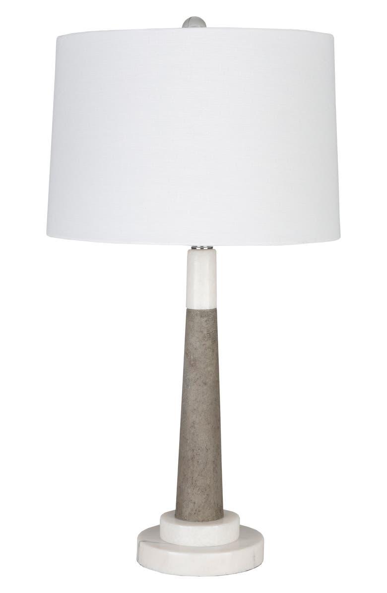 SURYA HOME Ellison Floor Lamp, Main, color, WHITE