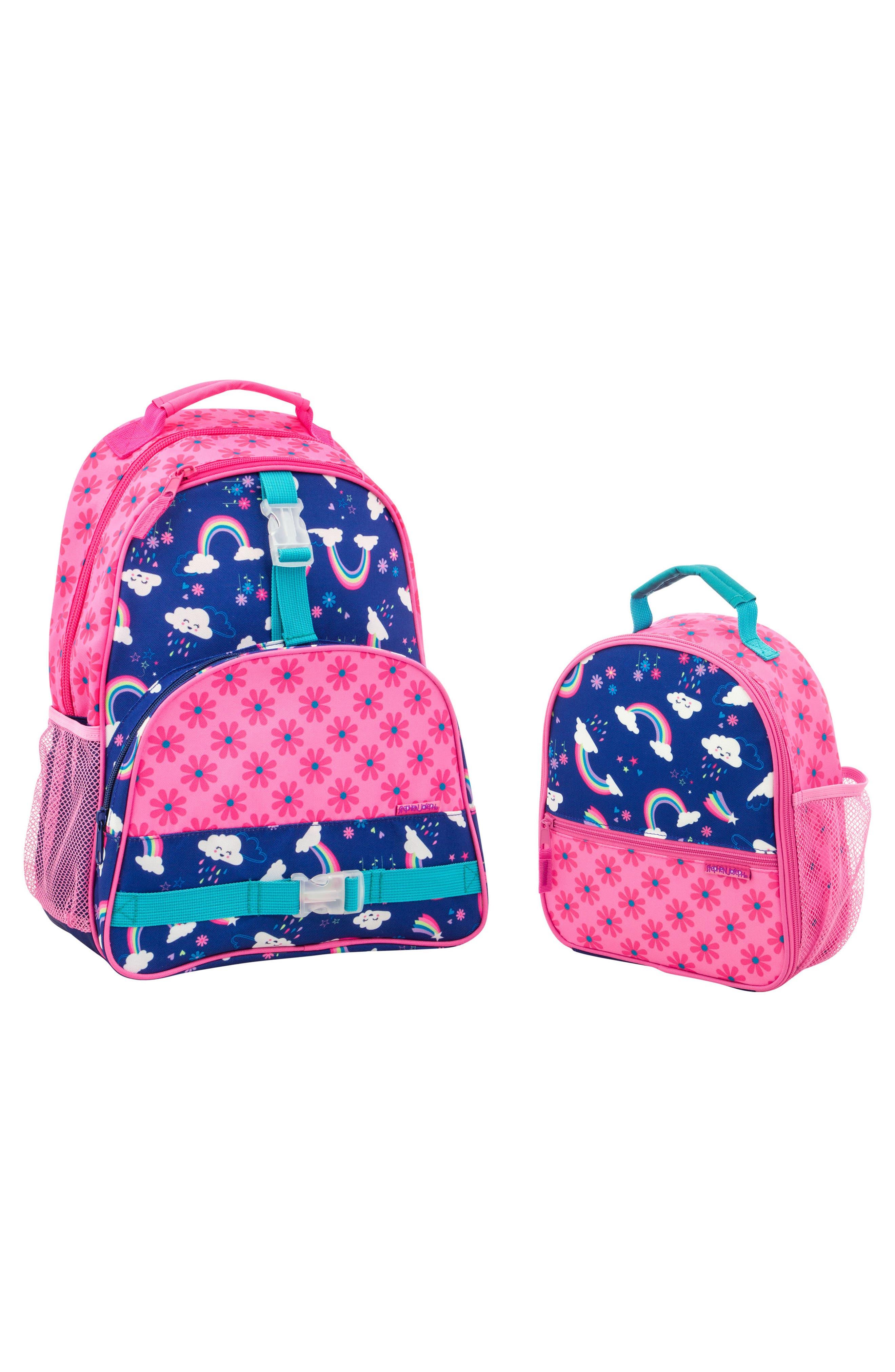 Girls Stephen Joseph Mermaid Sidekick Backpack  Lunch Pal  Blue