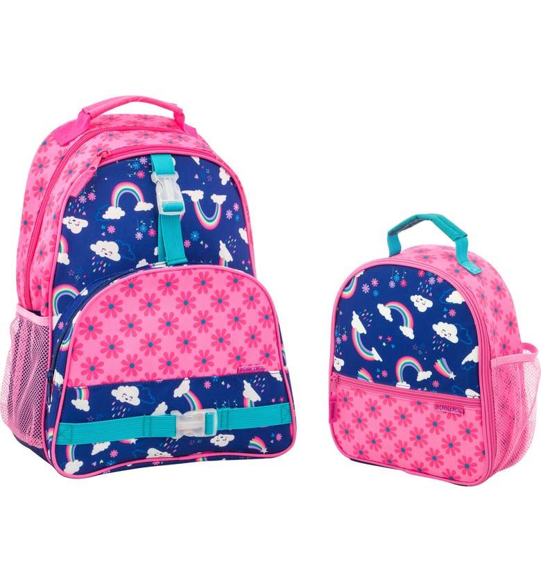 STEPHEN JOSEPH Mermaid Sidekick Backpack & Lunch Pal, Main, color, RAINBOW