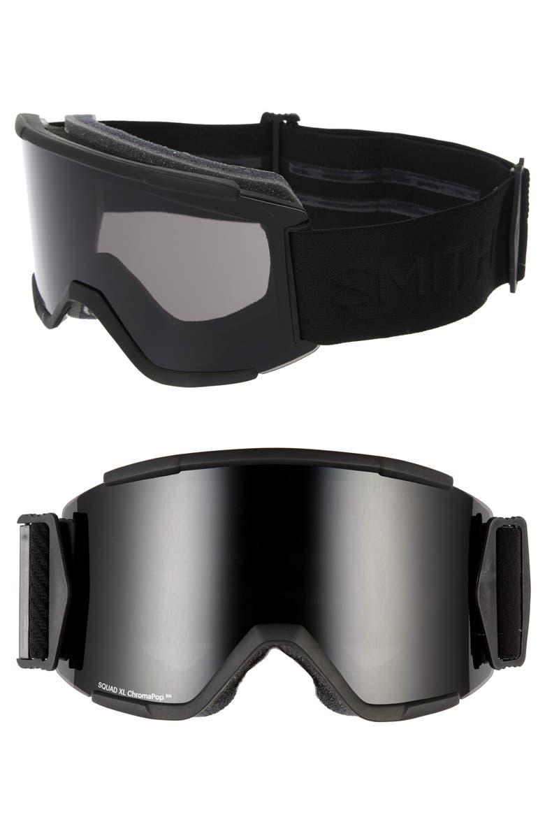 SMITH Squad XL 205mm Snow Goggles, Main, color, BLACKOUT/ BLACK