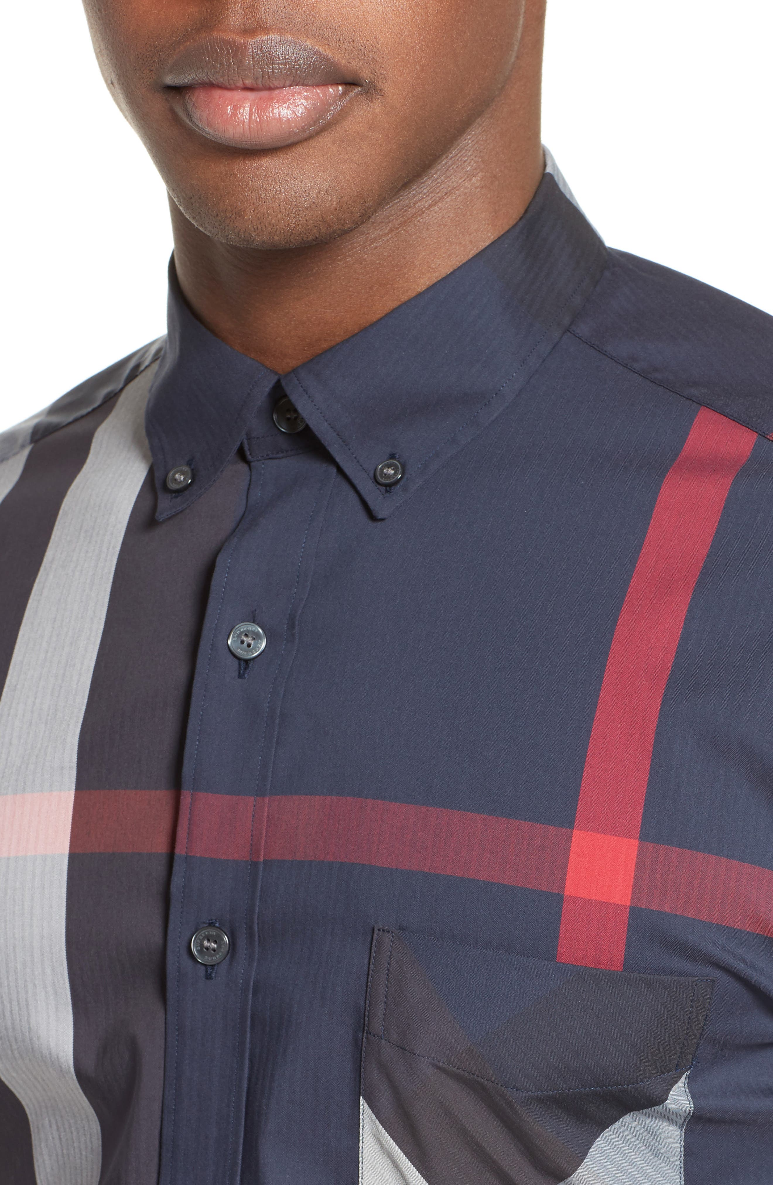 ,                             Thornaby Slim Fit Plaid Sport Shirt,                             Alternate thumbnail 24, color,                             410