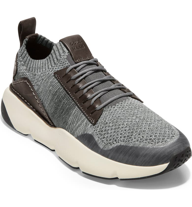 COLE HAAN ZeroGrand All-Day Trainer Sneaker, Main, color, GREY/ IVORY KNIT