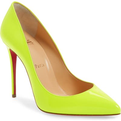 Christian Louboutin Pigalle Fluo Pump, Yellow