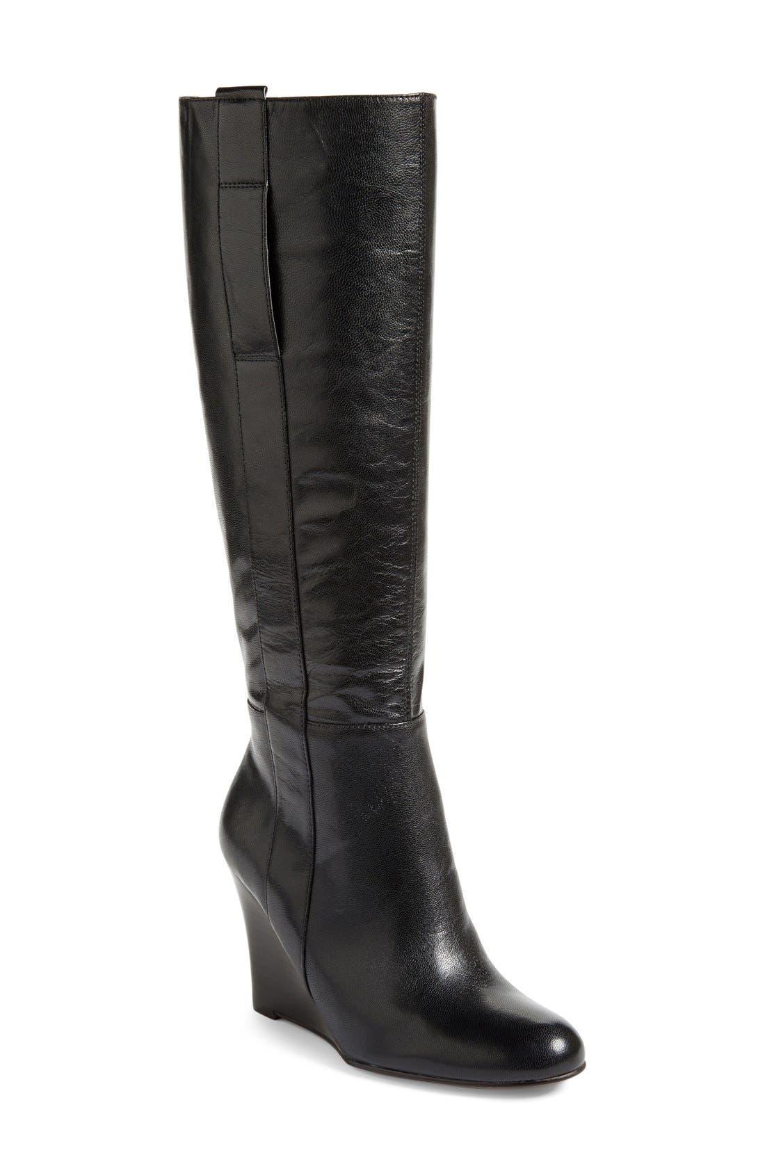 ,                             'Oran' Tall Wedge Boot,                             Main thumbnail 9, color,                             003