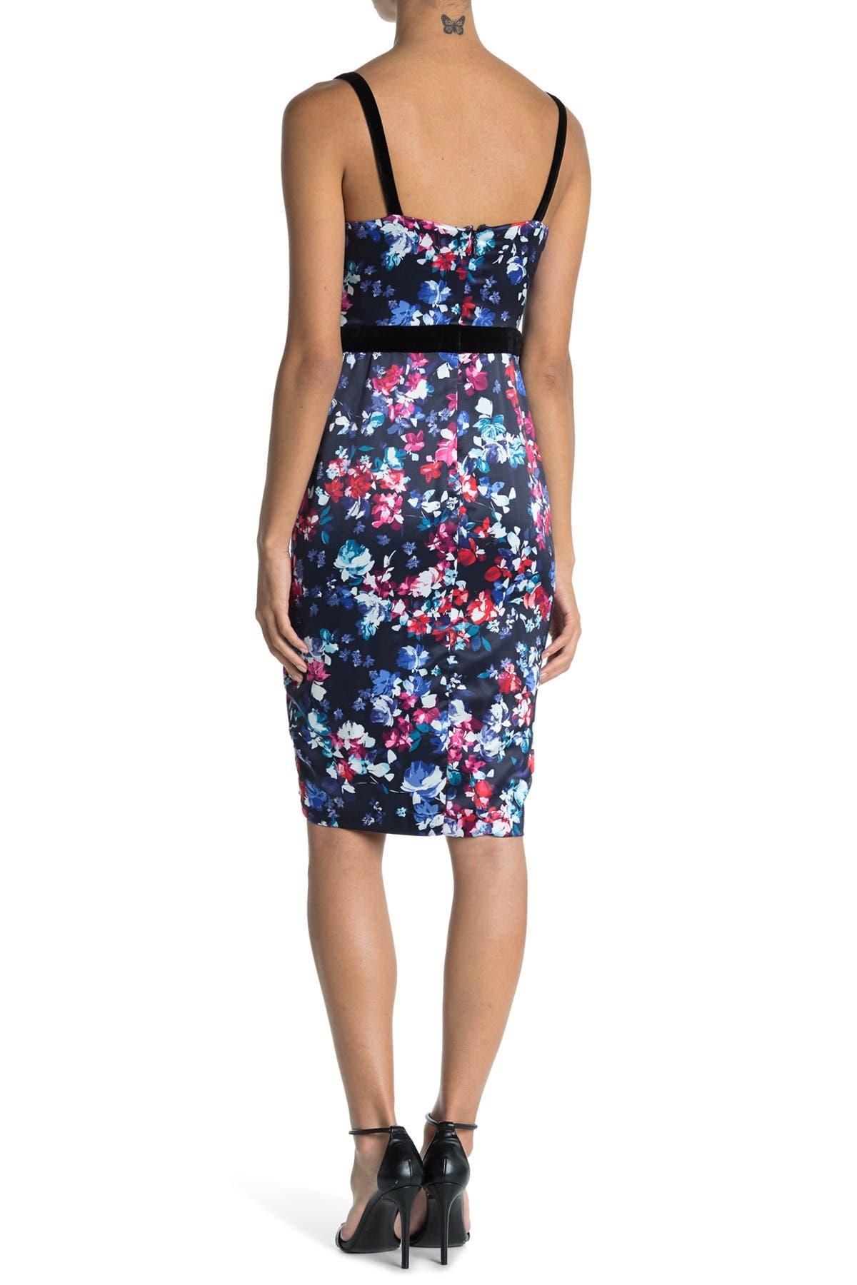 GUESS Floral Print Slip Dress