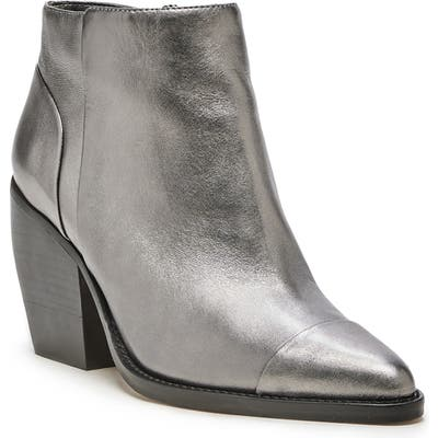 Sole Society Maevel Cap Toe Bootie- Metallic