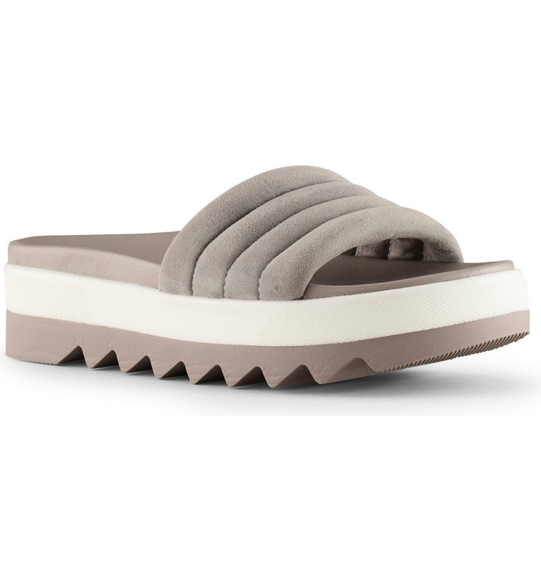 COUGAR Perth Slide Sandal, Main, color, FOSSIL LEATHER