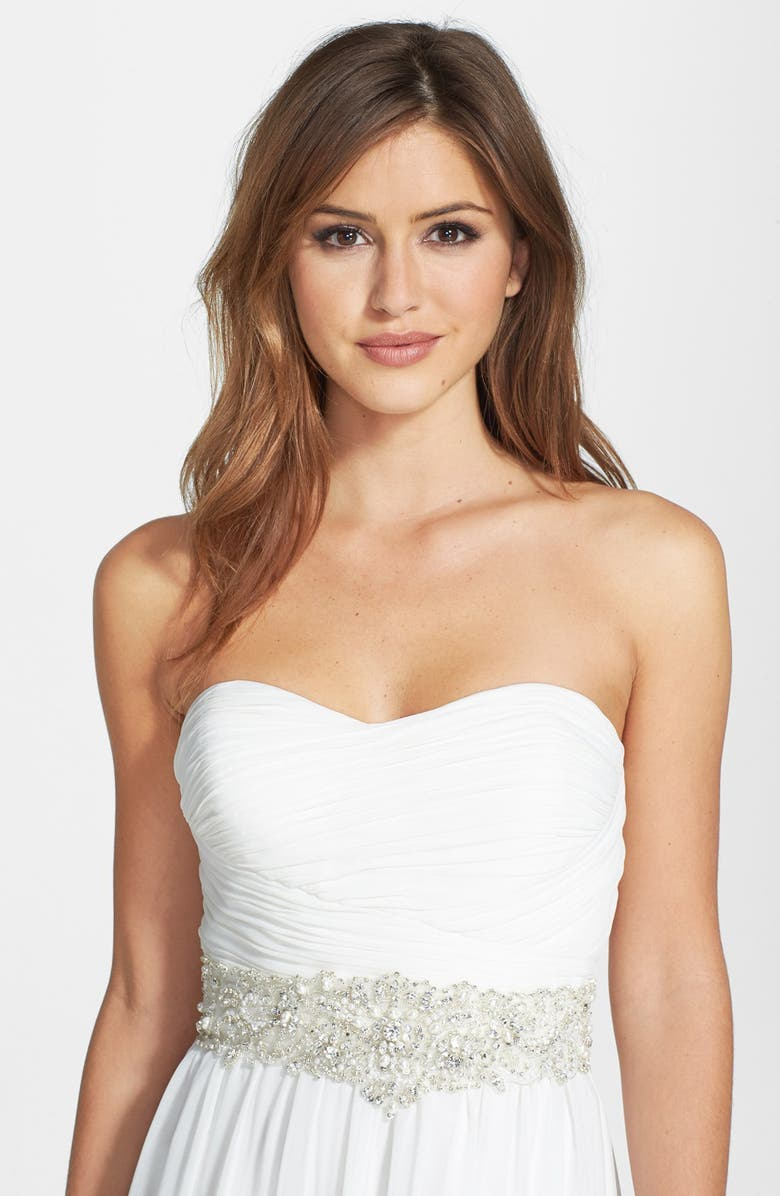 JAMES CLIFFORD COLLECTION Faux Pearl Beaded Belt, Main, color, 900