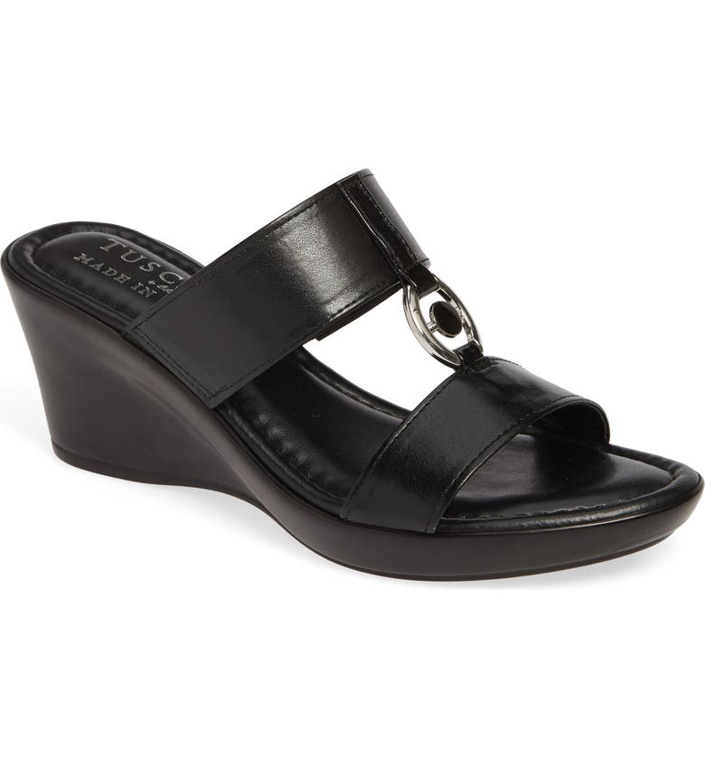 TUSCANY BY EASY STREET<SUP>®</SUP> Calla Slide Sandal, Main, color, 001