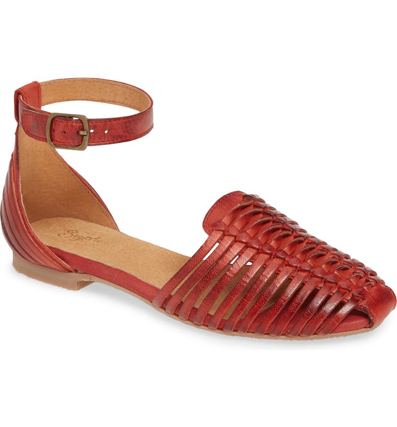 SEYCHELLES Bits N Pieces Sandal, Main, color, RED LEATHER