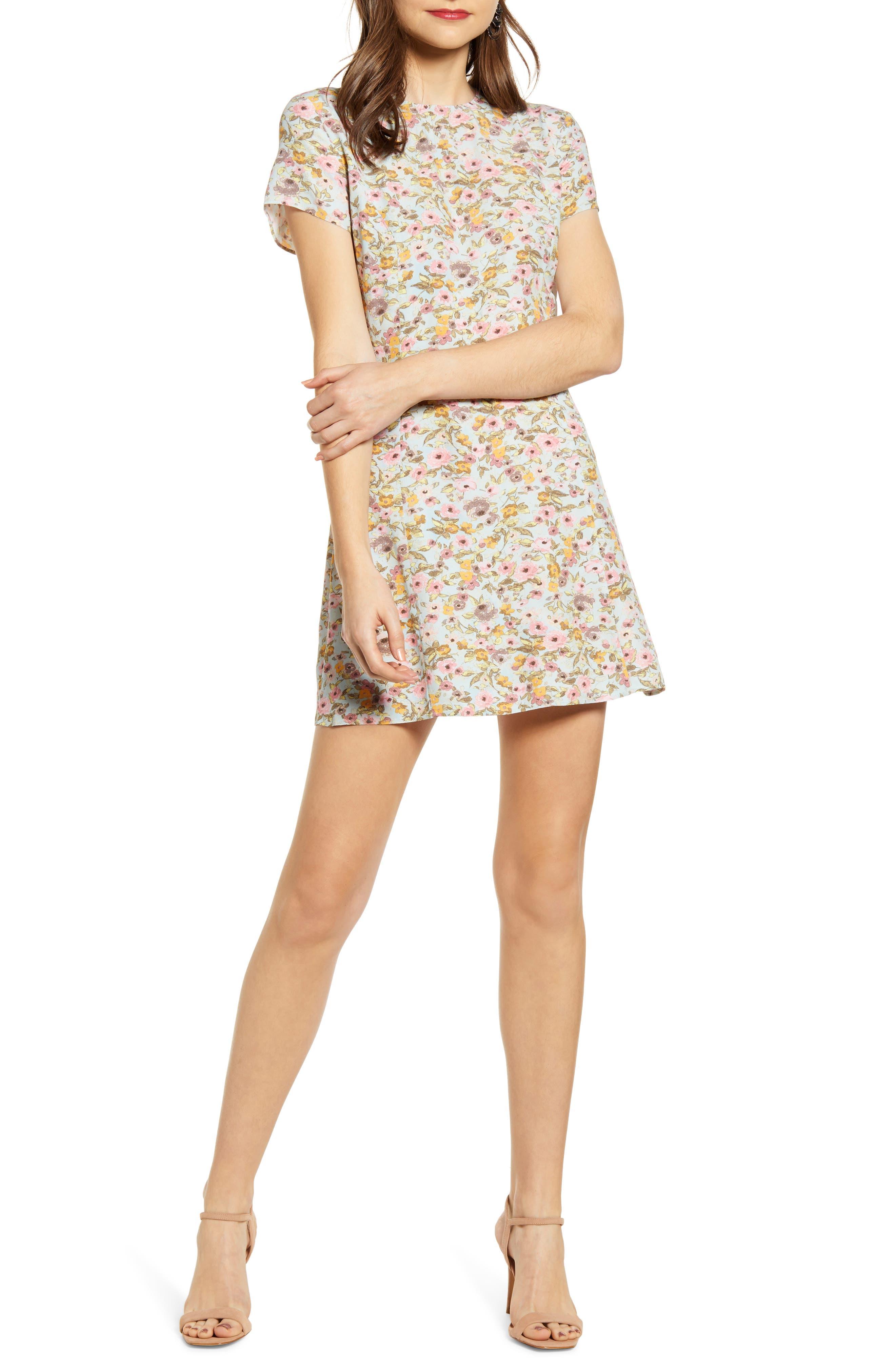 Easy Flirty Minidress, Main, color, 446