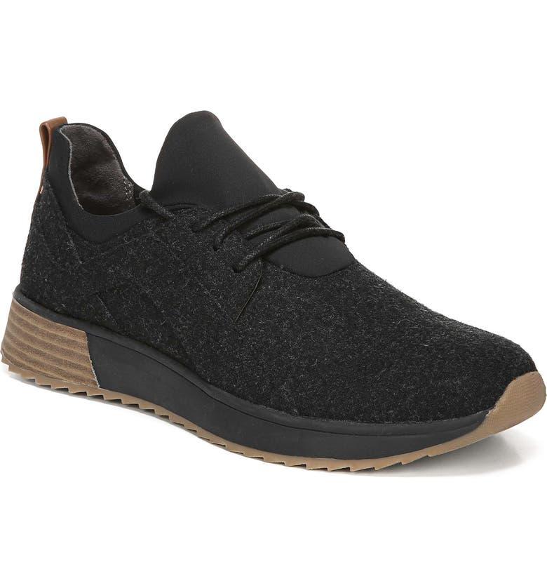 DR. SCHOLL'S Robin Sneaker, Main, color, BLACK FLANNEL FABRIC