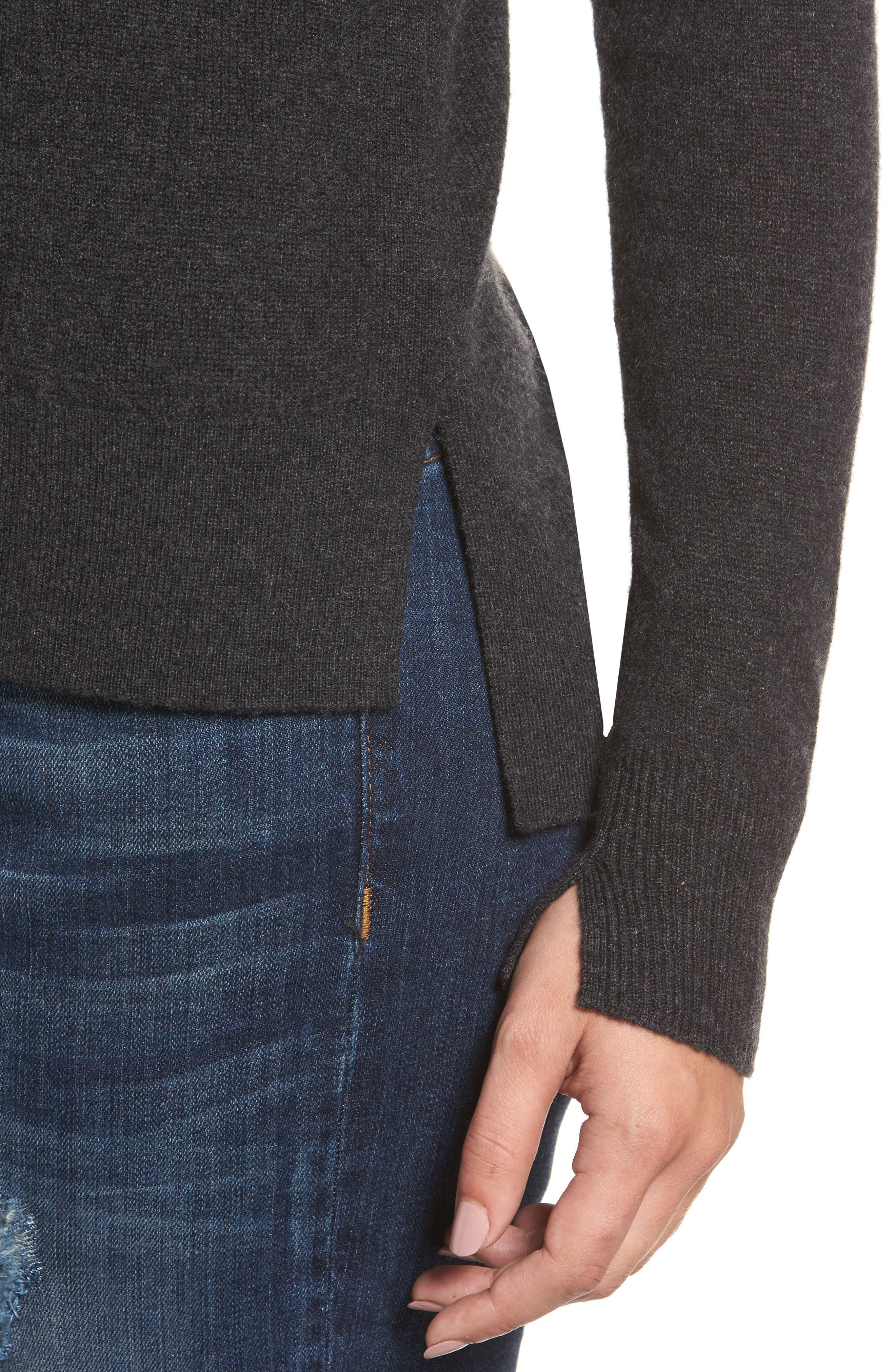 ,                             Crewneck Cashmere Sweater,                             Alternate thumbnail 254, color,                             021