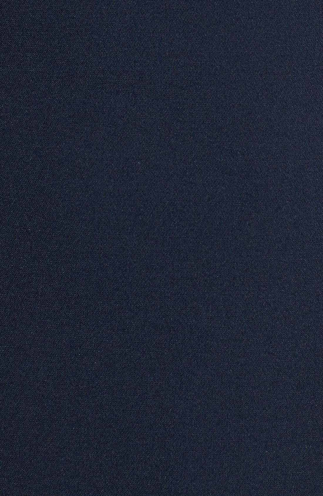 ,                             Illusion Yoke Crepe Sheath Dress,                             Alternate thumbnail 14, color,                             408