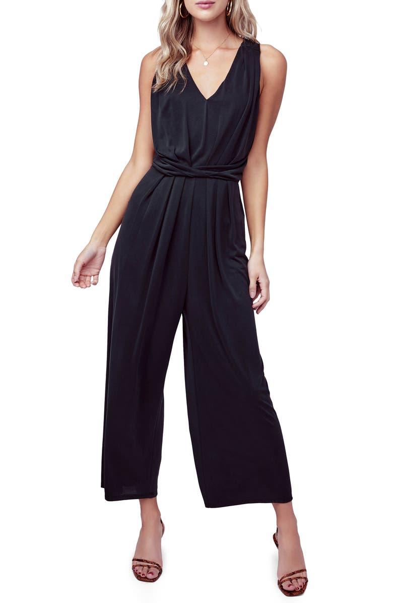ASTR THE LABEL Easy Twist Waist Jumpsuit, Main, color, BLACK