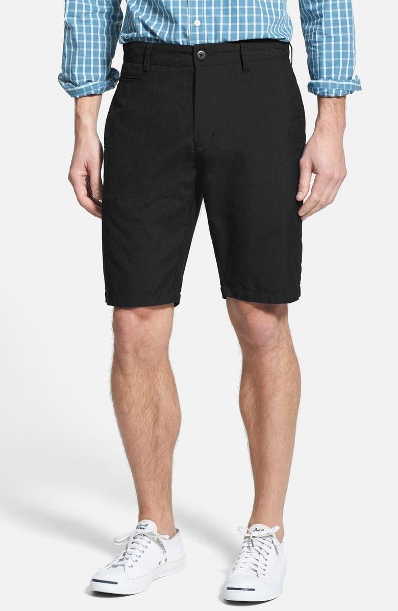 RVCA 'Marrow III' Slub Twill Shorts, Main, color, Black