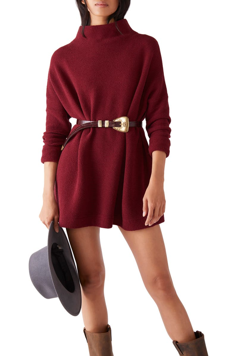 FREE PEOPLE Ottoman Slouchy Tunic, Main, color, DARK PETALS