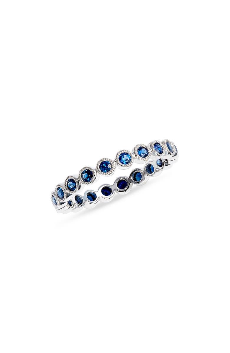 BONY LEVY Feu Et Eau Sapphire Eternity Ring, Main, color, WHITE GOLD/ SAPPHIRE