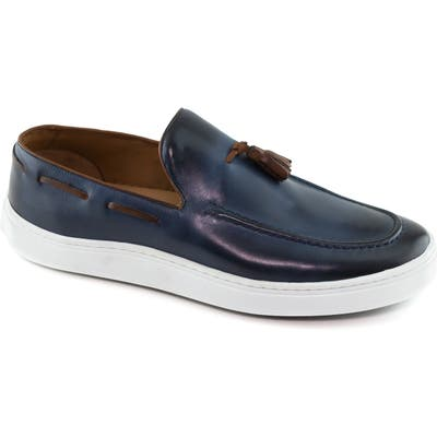 Marc Joseph New York Prince Street Tassel Loafer- Blue