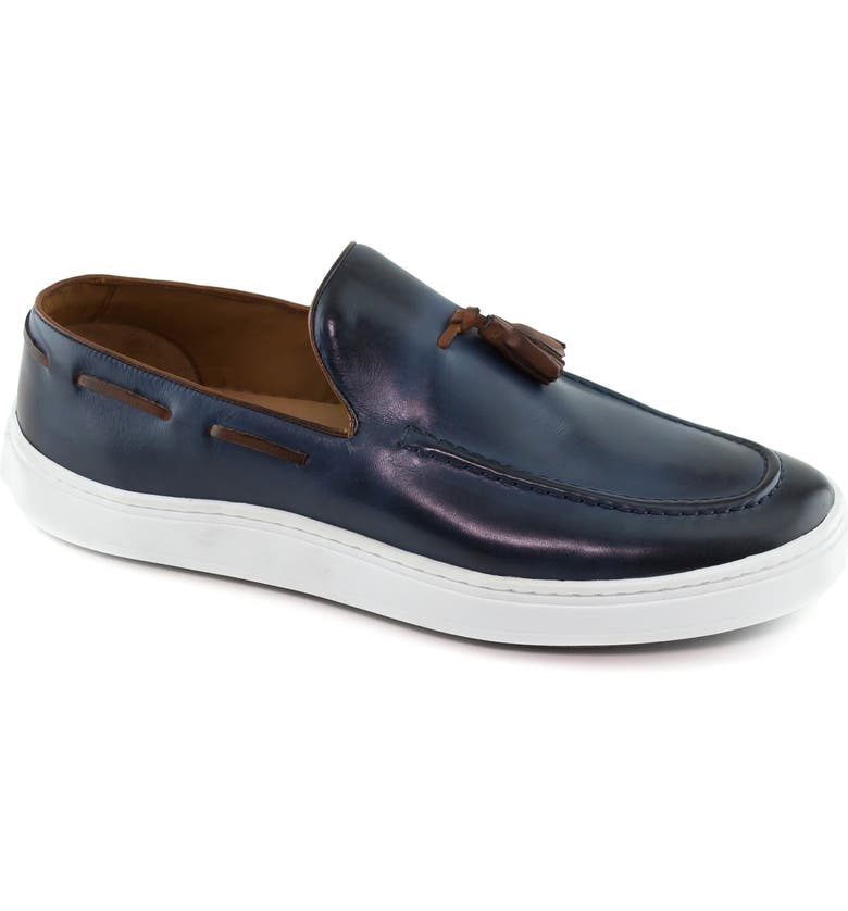 MARC JOSEPH NEW YORK Prince Street Tassel Loafer, Main, color, NAVY