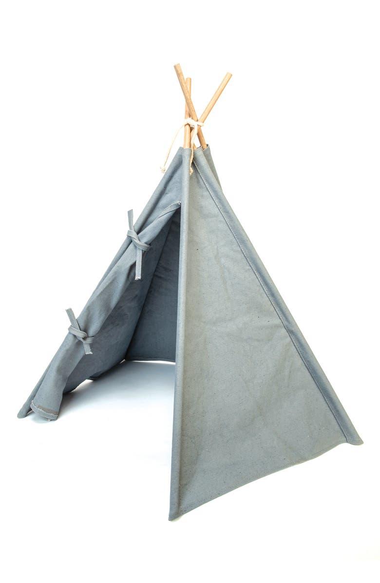 GEORGIE PAWS Dog Tent, Main, color, GREY